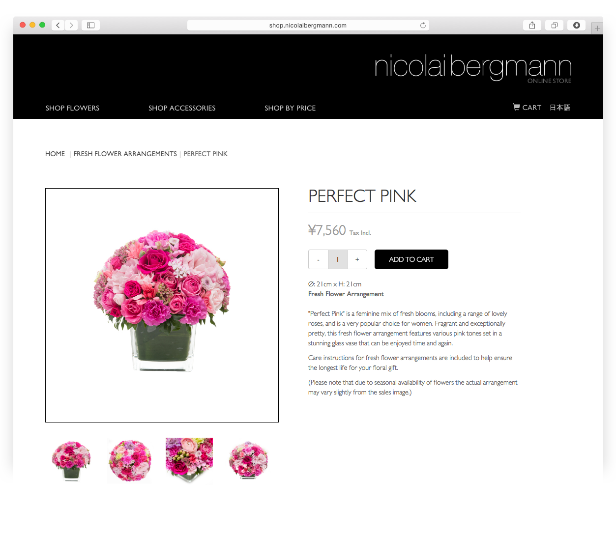 Nicolai Bergmann E-commerce store perfect pink